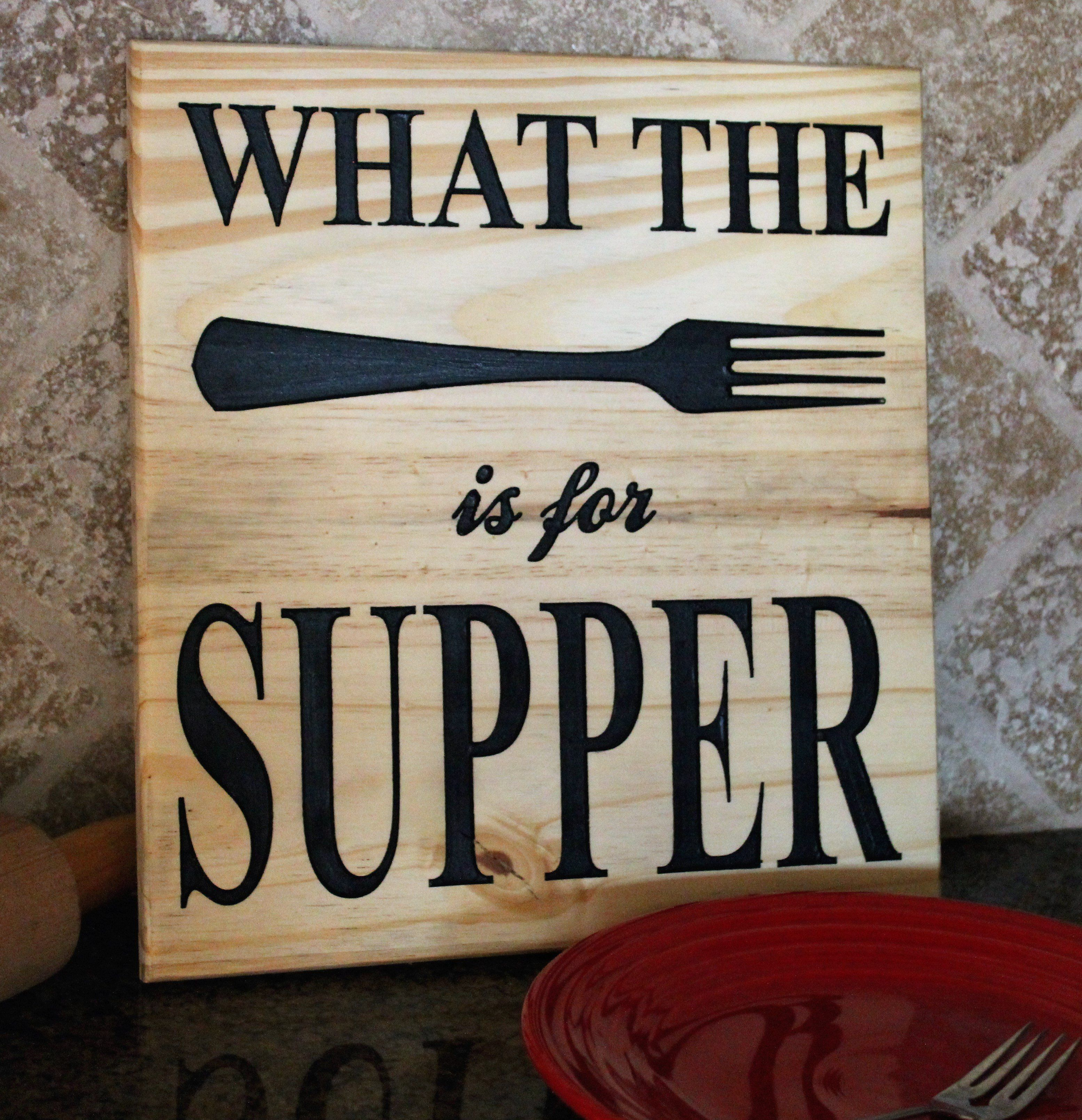 Signs For The Kitchen: Funny Kitchen Signs, Rustic Kitchen Decor, What The Fork