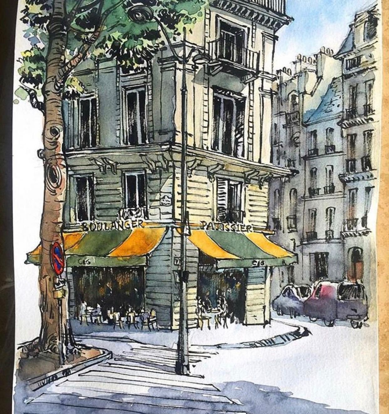 Urban Sketch Art Illustration Urban Sketching Architecture