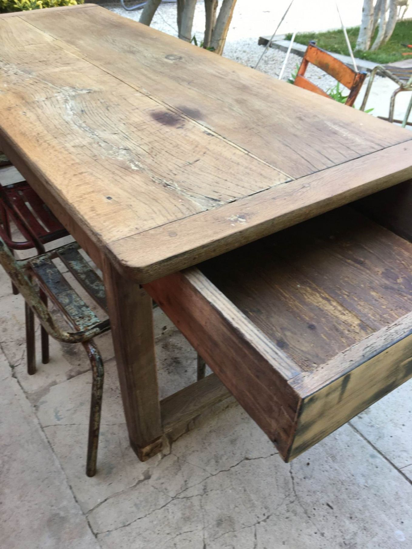Table De Ferme Chene   Rustic dining table, Table, Rustic dining