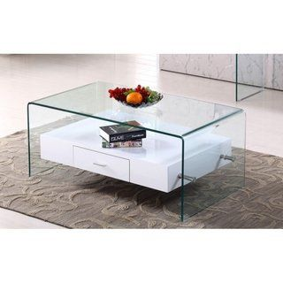 Best Quality Furniture Modern Glass Top Coffee Table With Drawer