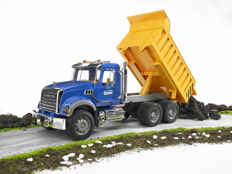 Amazon Com Bruder Mack Granite Dump Truck Toys Games Toy Trucks Trucks Dump Truck
