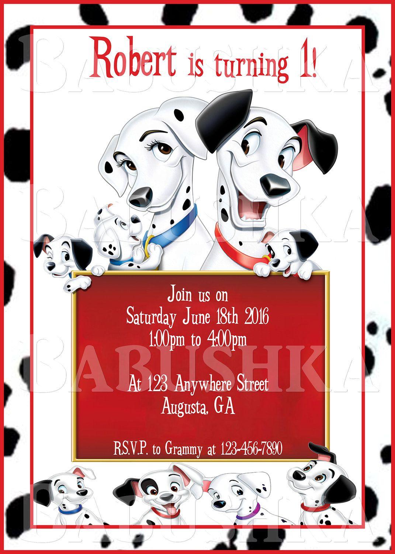 101 Dalmatians Birthday Party Invitation/ Movie themed Party Invite ...
