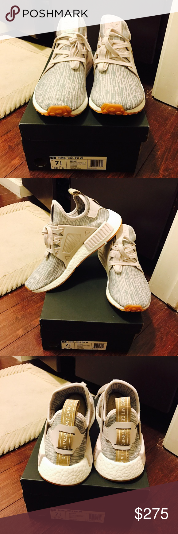 0c324d487ef32 NWT Adidas NMD XR1 primeknit women s sz 7.5 Brand-new with original box Adidas  NMD XR1 Primeknit Shoes in Mid Grey and Ice Purple. SOLD out.