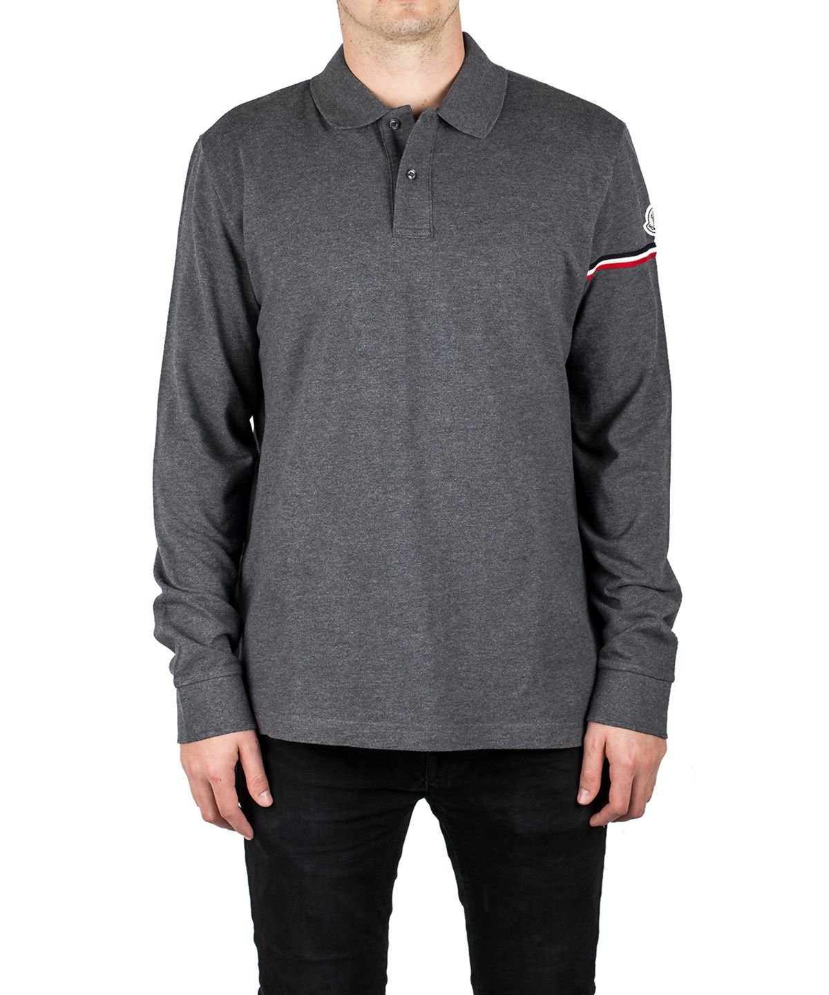 91a6eac0851d MONCLER Moncler Men S Long Sleeve Polo Shirt Grey .  moncler  cloth ...