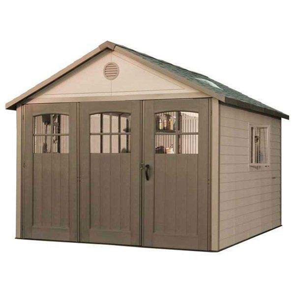 11 Ft W X 21 Ft D Plastic Storage Shed Plastic Sheds Plastic Storage Sheds Storage Shed