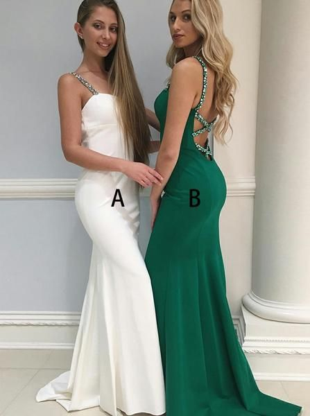 Mermaid Prom Dresses,Strappy Prom Dress,Modest Prom Dress,Formal Evening Dress gowns #modestprom