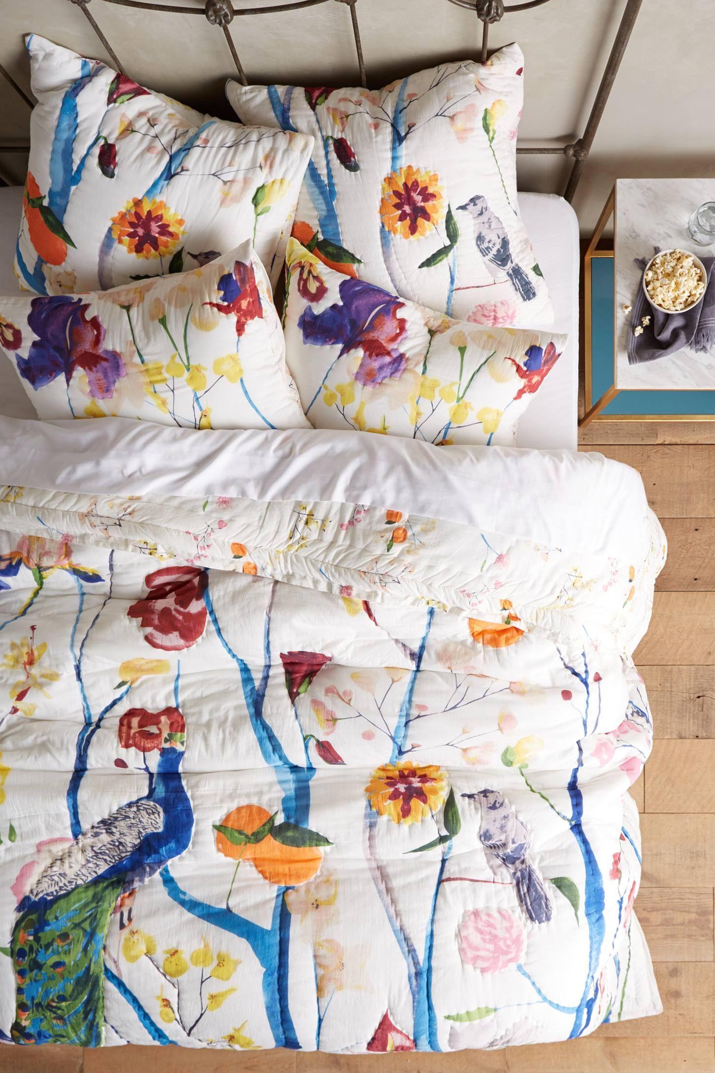 Anthropologie bedding - Garden Chinoiserie Quilt Anthropologie Com
