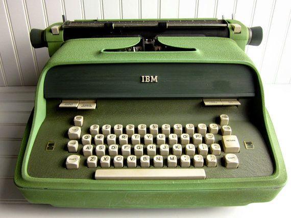 Vintage Typewriter 1960s Ibm Executive Model 41 Electric