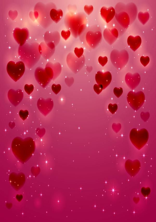 Valentine's Day red Love heart backdrop