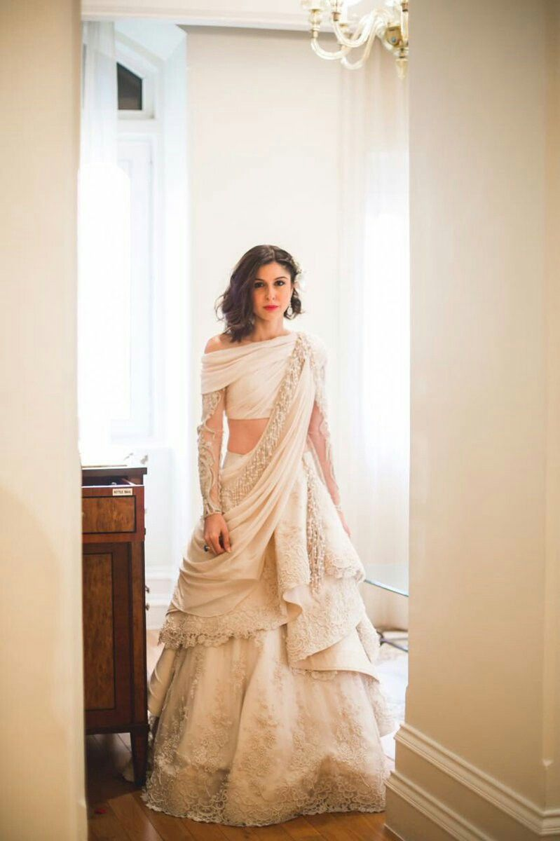 Scherezade Shroffs Wedding Outfit Swooning Over It Indian Reception Dress