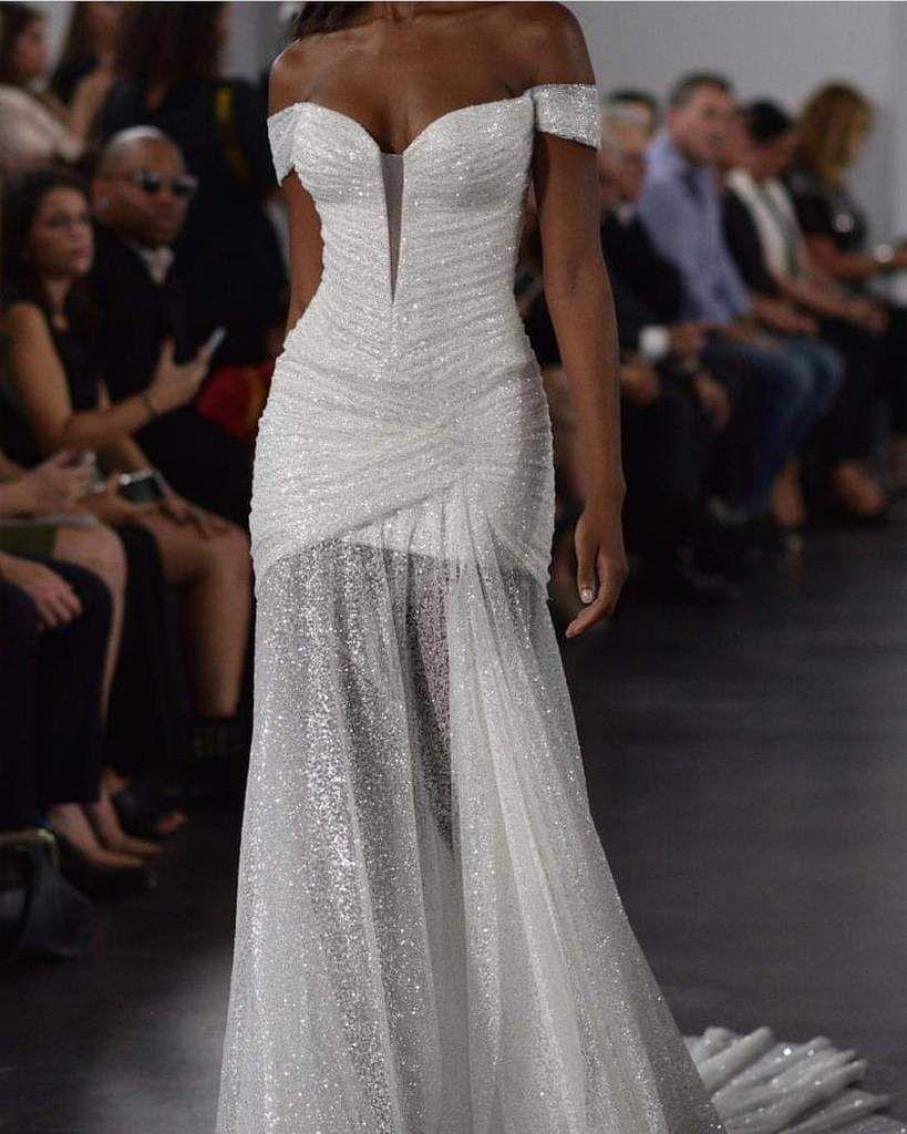 Pnina Tornai Glitter Draped Pnina Tornai Wedding Dress Used Wedding Dresses Wedding Dresses