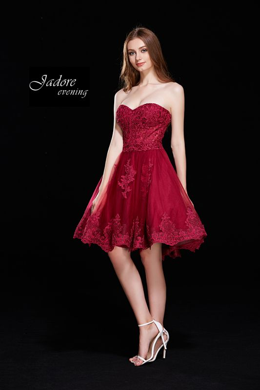 e74031d6eedc Lace Bodice Short Dress J12018 | red Rose in 2019 | Strapless dress ...