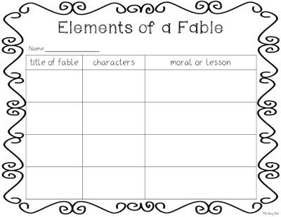 These Worksheets Helps Students Practice Identifying And Listing The Primary Elements Within A Fable It Can Be Fables Fables Worksheets Lesson Plan Templates Fables worksheet 2nd grade