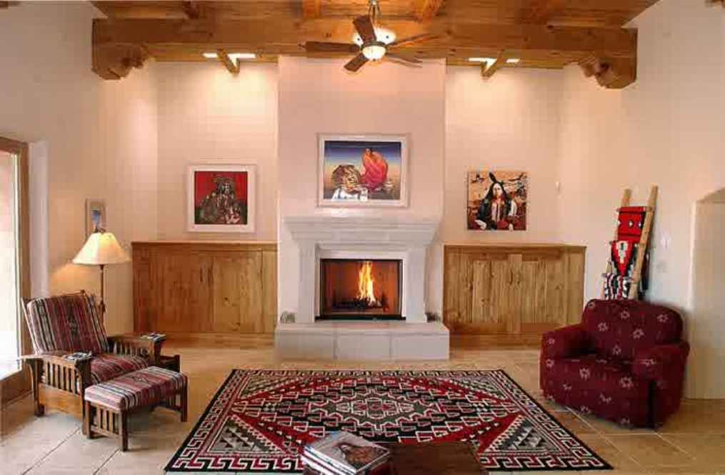 Superbe Native American Home Interiors With Fireplace : Native American .