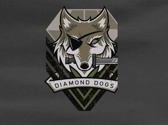 Metal Gear Solid Phantom Diamond Dogs Logo Snake Tee T Shirt Metal Gear Metal Gear Solid Metal Gear Series