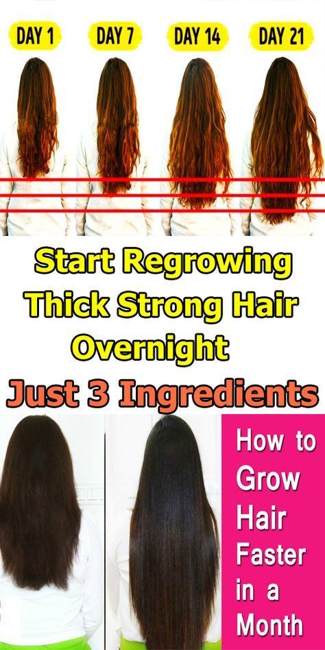 Beginnen Sie mit dem Nachwachsen von dickem, starkem Haar über Nacht mit nur 3 Zutaten