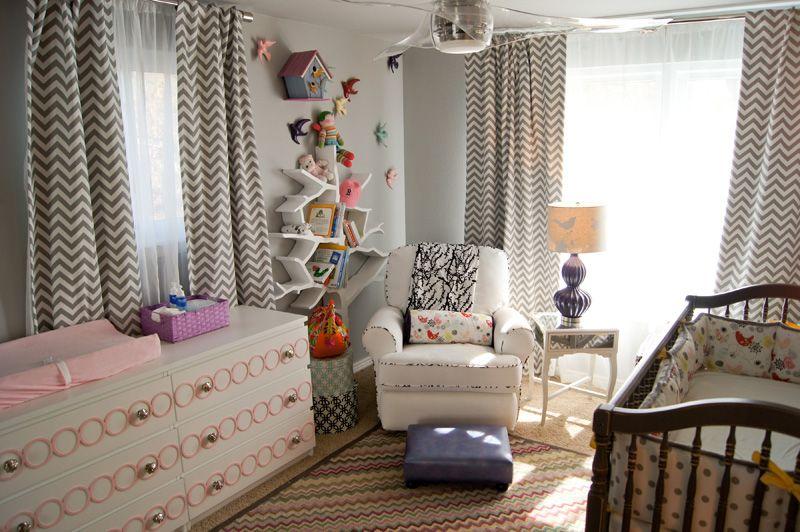 Modern Nursery - Hudson Baby Design Color, Tree Book Shelf