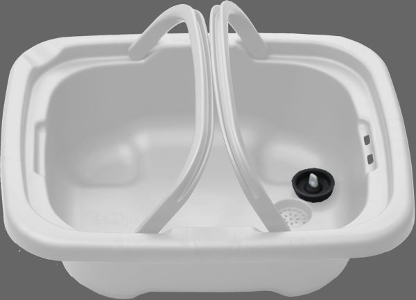 Save Water in the kitchen, laundry and bathroom with the Hughie Sink.