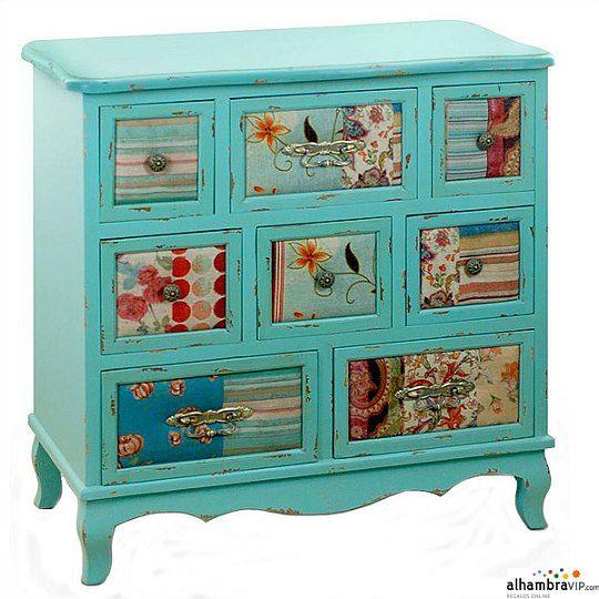 Algo as quiero para el mueble de cajones hecho a mano - Muebles reciclados vintage ...