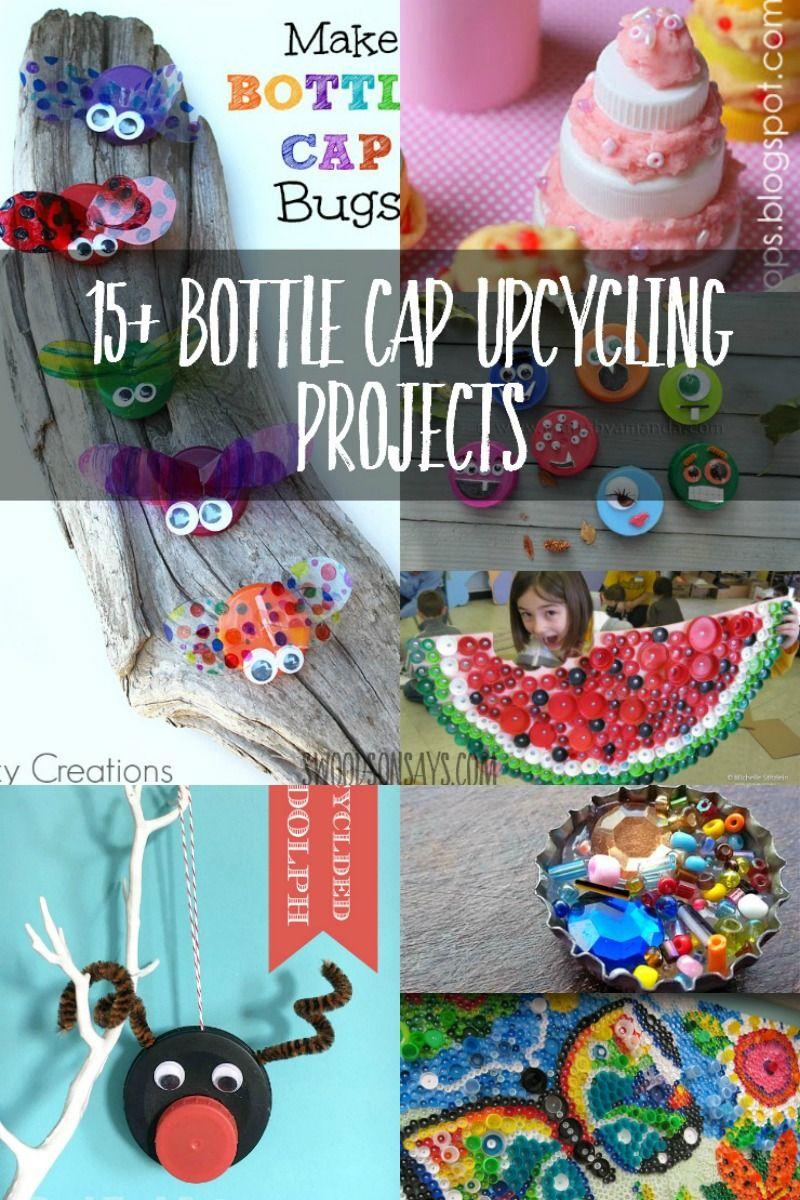 Craft Ideas That Upcycle Plastic Bottle Caps Plastic Bottle Caps