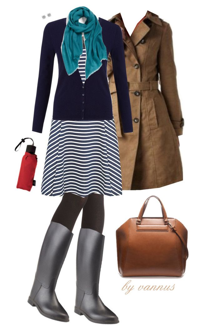 """""""Rainboots"""" by vannus ❤ liked on Polyvore featuring Promod, John Lewis, Echo and Victorinox Swiss Army"""