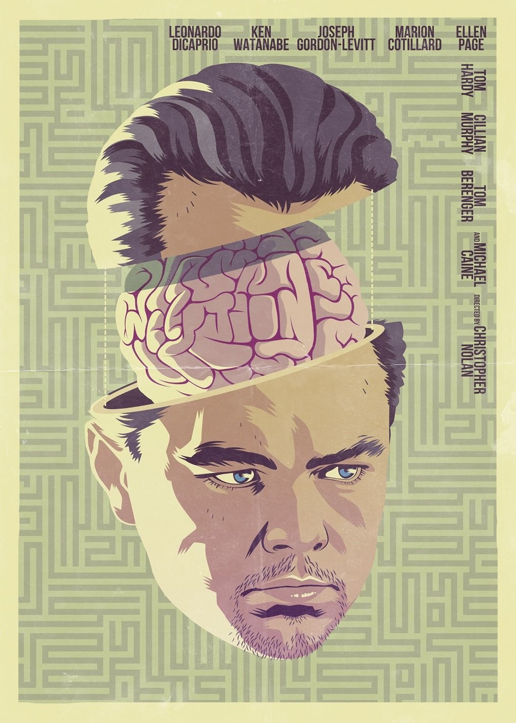 Fanposter for inception excellent illustrations by mike
