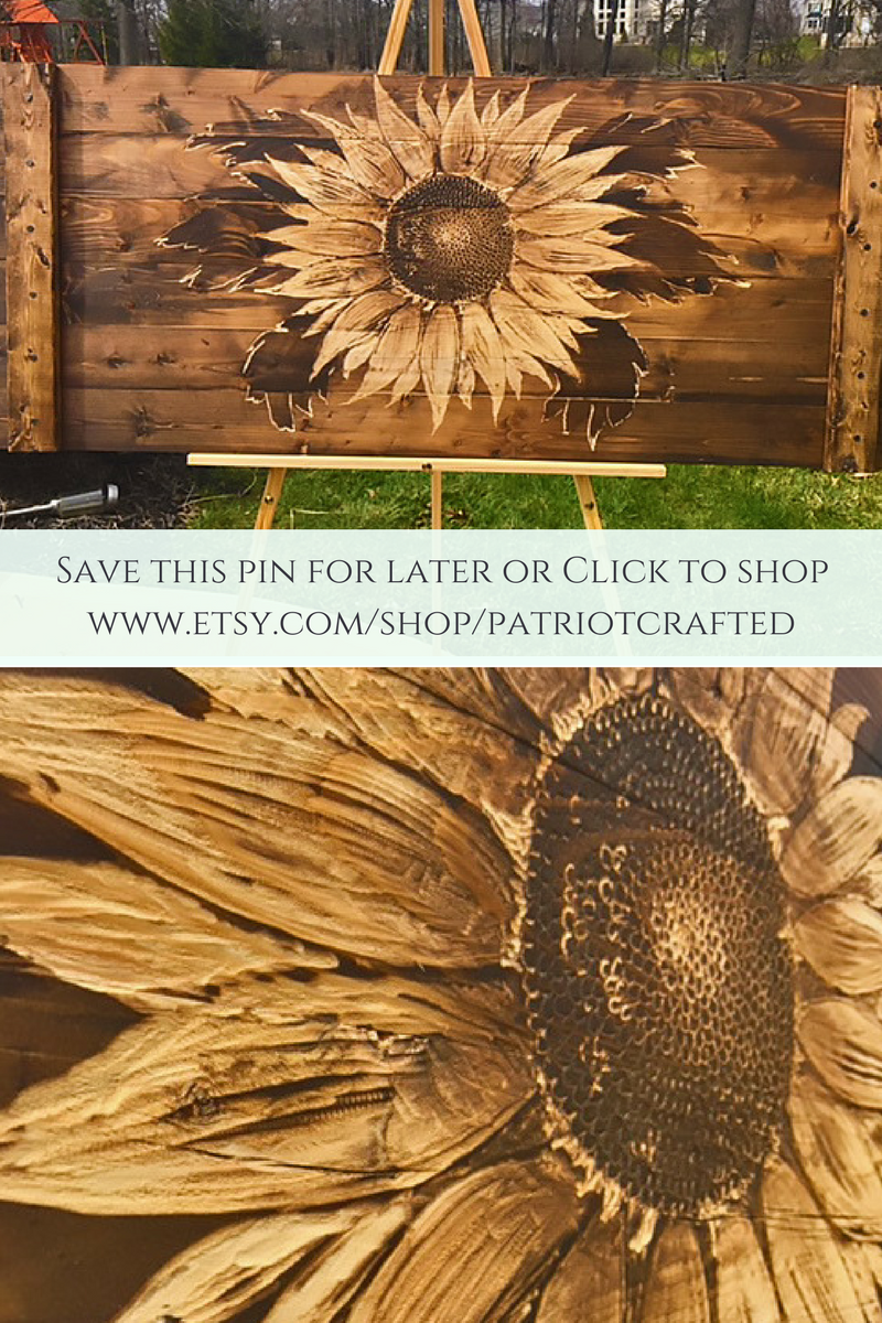 Large wood sunflower decor rustic sunflowers wall art flower wood