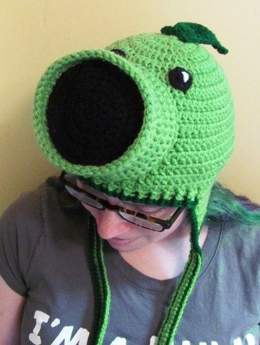 Crochet Pea Shooter Earflap Beanie Hat - $30.00 | Cam and Owen gifts ...