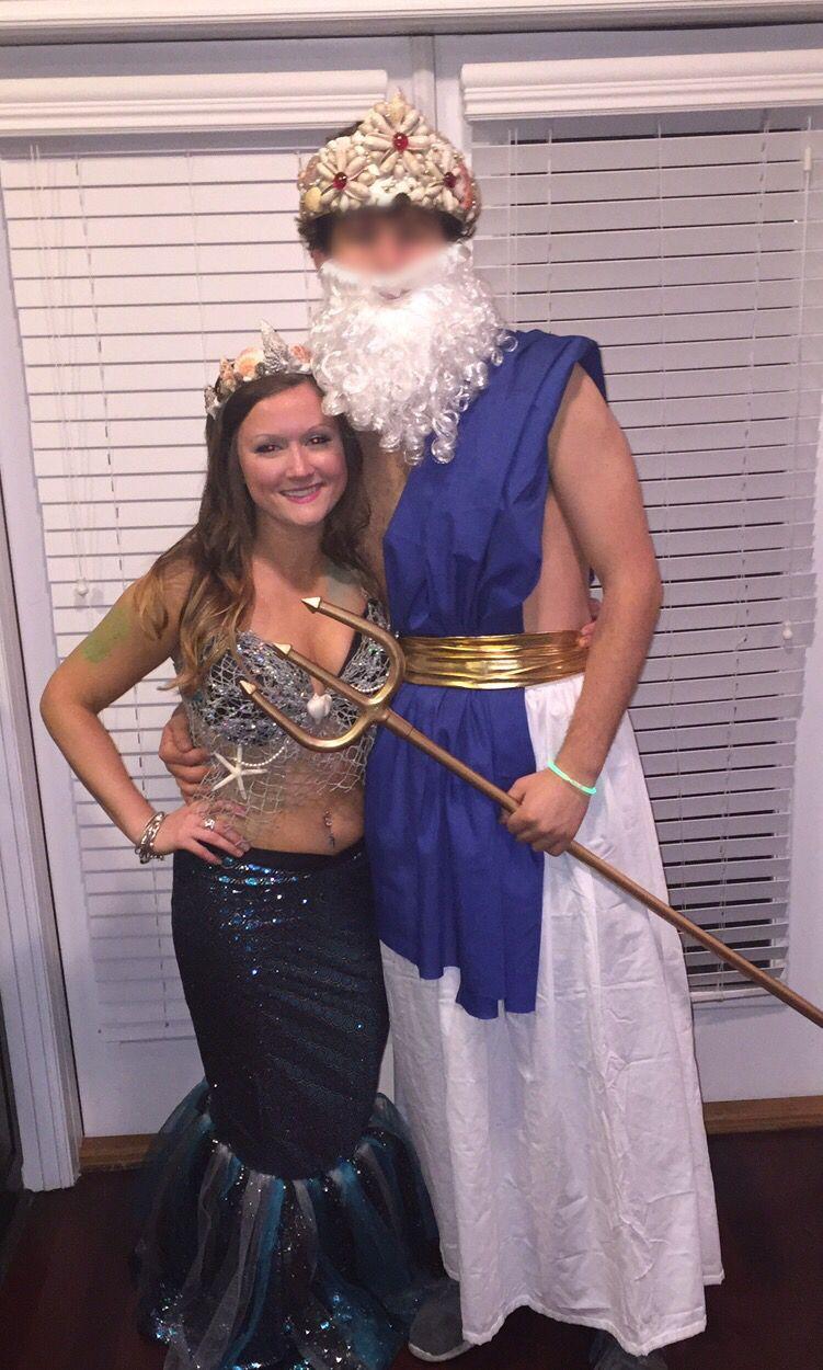 poseidon & mermaid couple costume   things me & gaga made