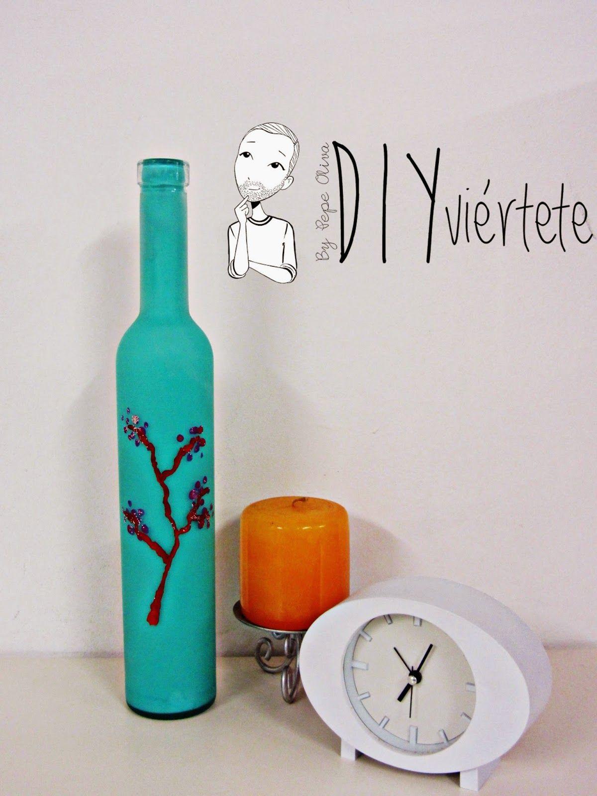 Botella Estampada manualidades Pinterest