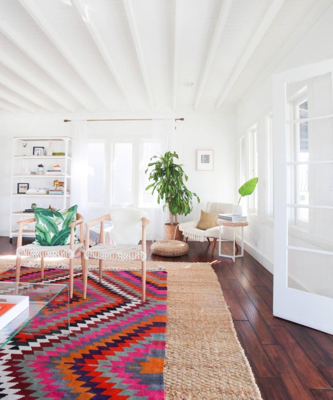 flat weave rug on jute rug