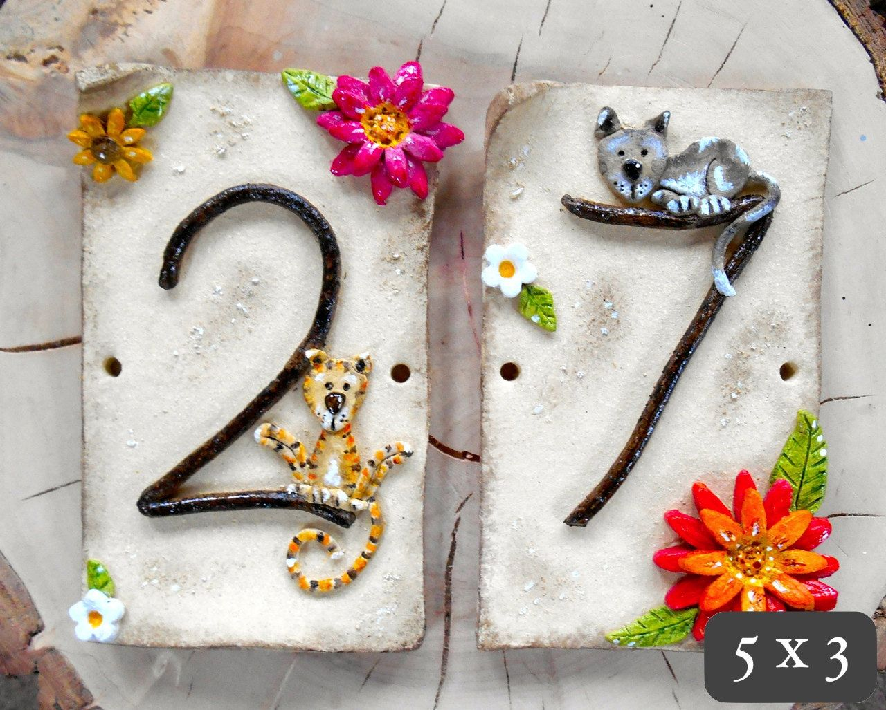 House number address tiles ceramic custom by bluefishstudiosshop house number address tiles ceramic custom by bluefishstudiosshop 2300 dailygadgetfo Image collections