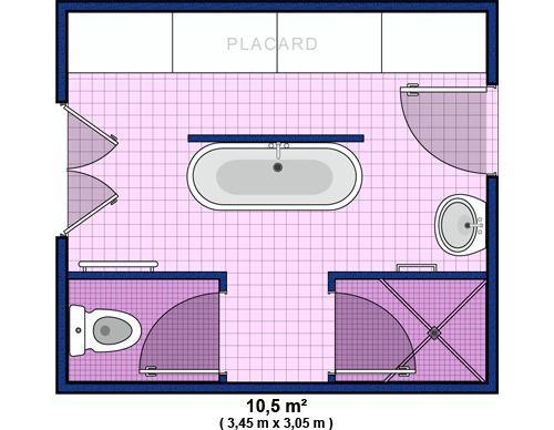 plan de salle de bain. Black Bedroom Furniture Sets. Home Design Ideas