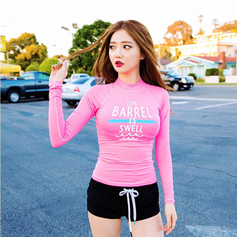 Women hot sexy long sleeve Rash Guard three pieces swimwear Surfing Suit  2016 new style wetsuit 7cd2c7a3a