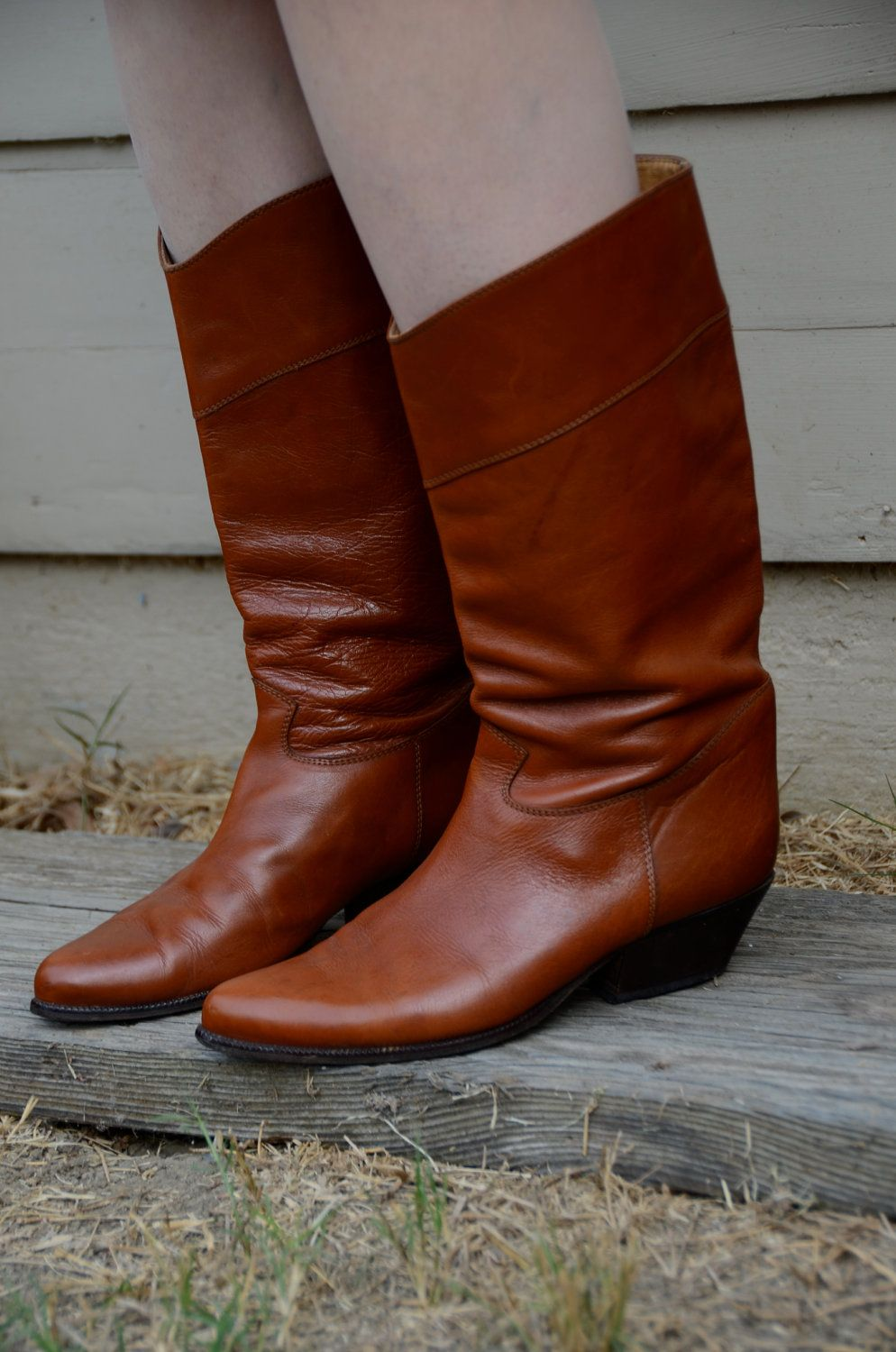 Women s 8 8.5 Sudini Vintage Leather Boots 80 s 4523c59b6c