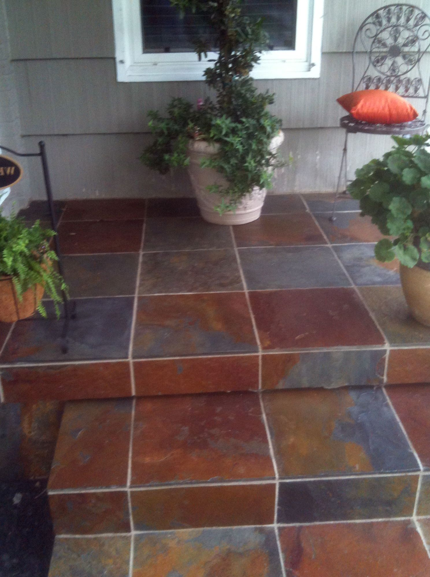 Front Porch Tile Slate | Front Porch | Pinterest | Front ...