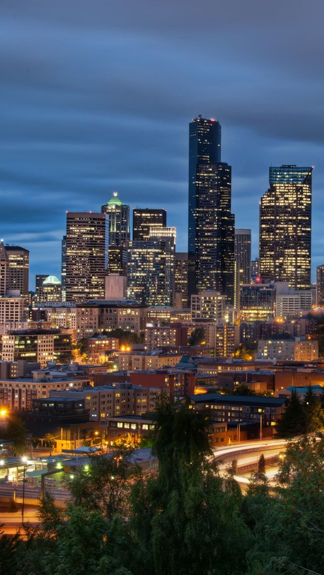 Downtown seattle iPhone 5 Wallpaper Download find more