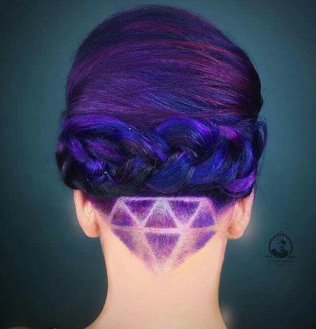 Diamond Undercut Hair Styles Undercut Hairstyles Purple Hair