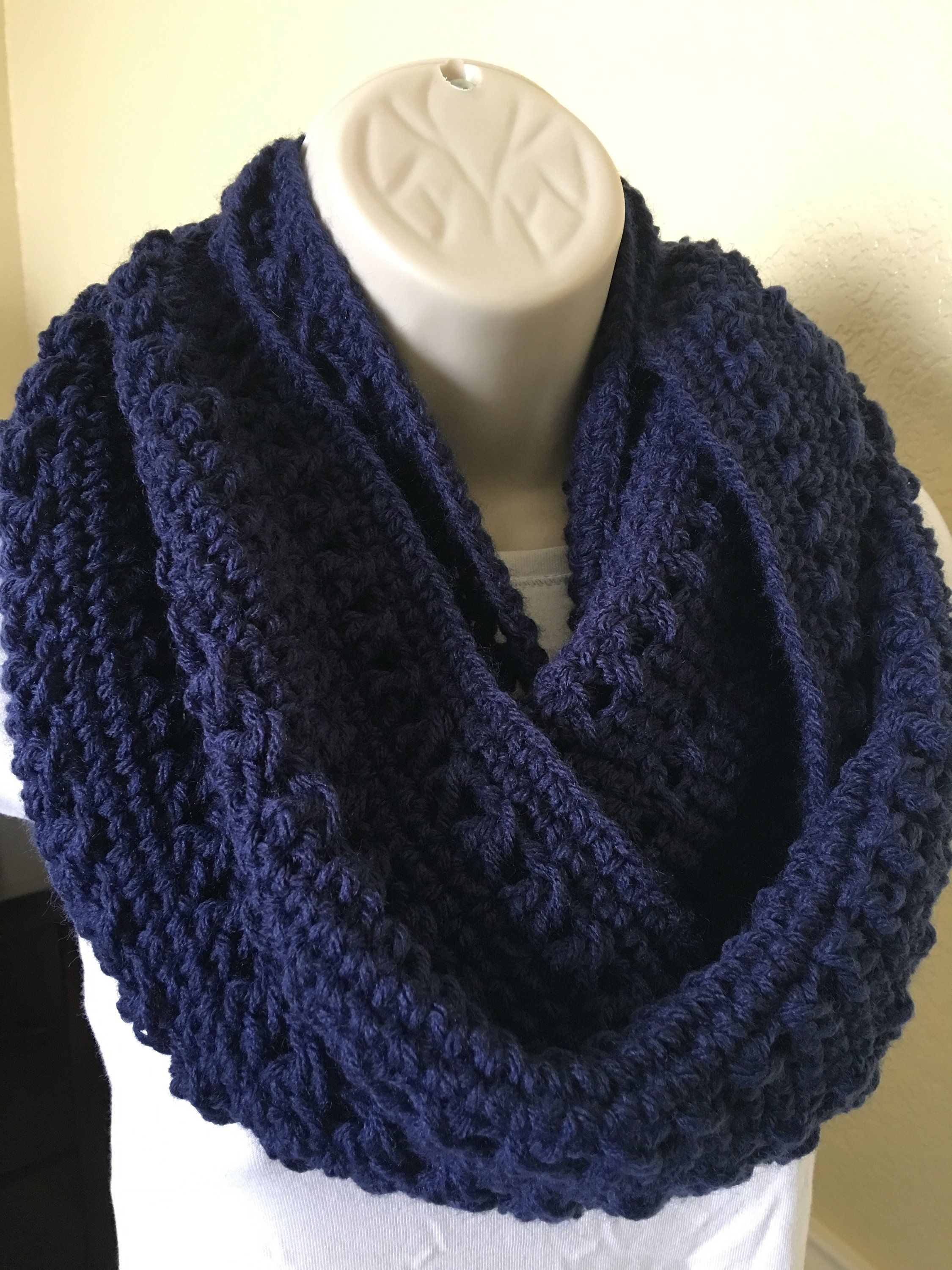 f8a718a44afd0 Infinity Scarf, Gorgeous Color For More check at....  https://www.etsy.com/shop/ThreadsMadeCozy Soft and warm, 100% acrylic yarn  , 4 Medium yarn This ...