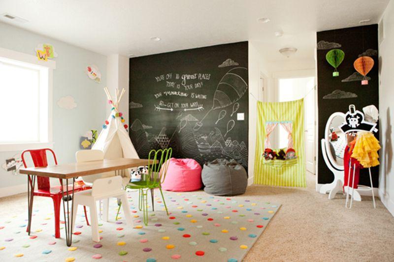 10 Friendly & Fun Kids Playrooms | Chalkboard walls, Playrooms and ...