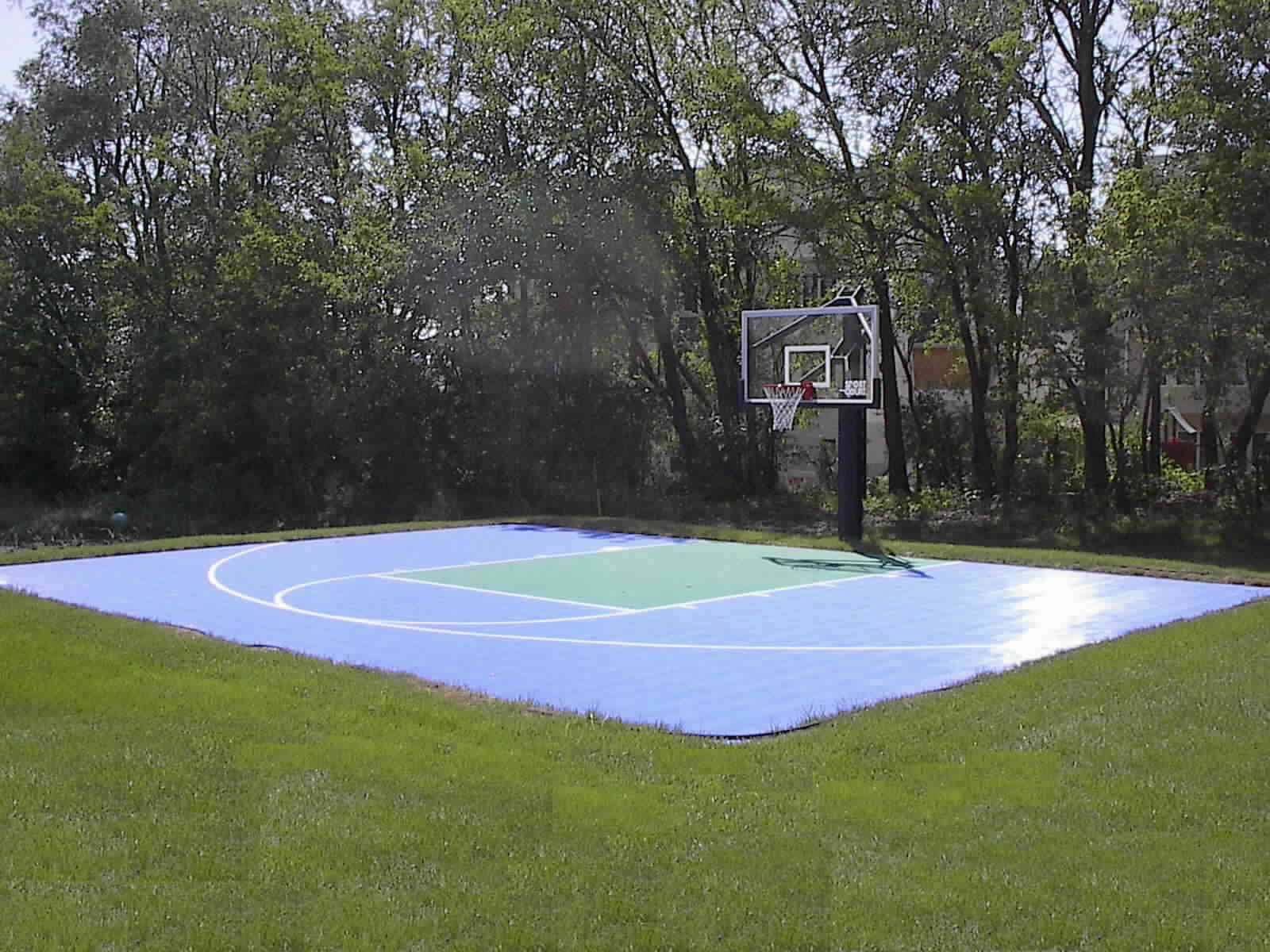 Basketball Court Backyard Cost With Single Ring Design