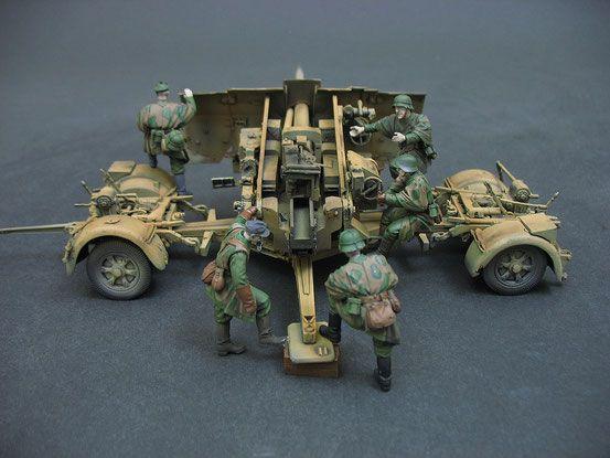 8,8cm Flak 41 mit Crew 1 - Custom-Scales Webseite!