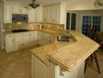 Nice Colonial Gold Granite Countertops Ivory Kitchen   Ivory Gold Granite  Countertops In The Kitchen   Yelp