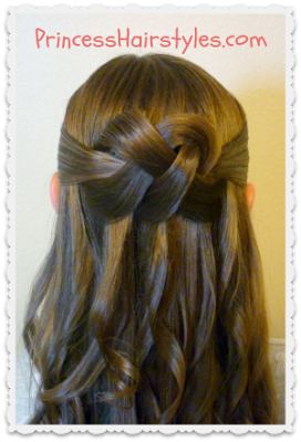 Woven Knot Half Up Half Down Hairstyle Tutorial Hair Styles Hair Knot Tutorial Princess Hairstyles