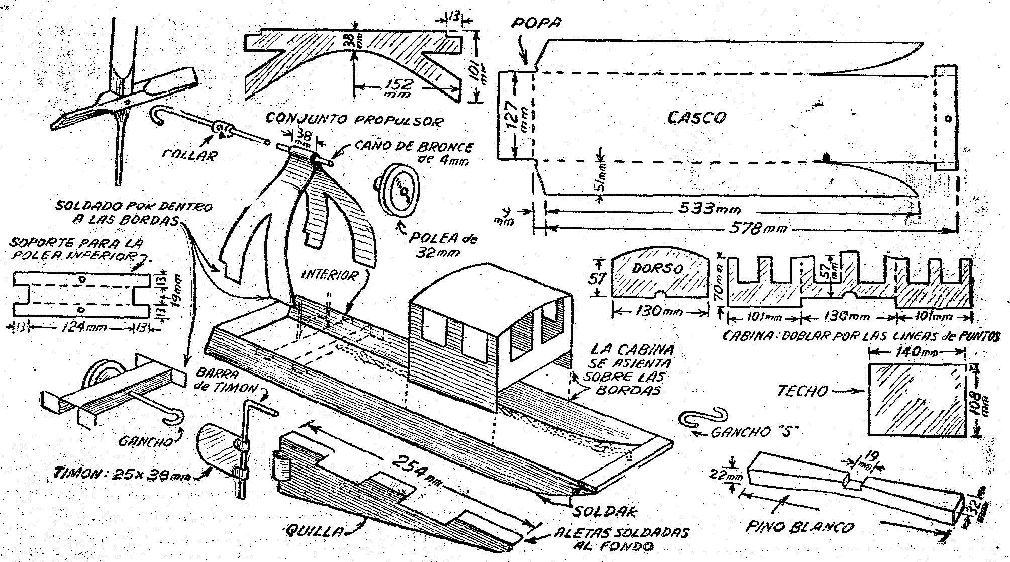Barco que se hace con latas de gaseosa maquetas Proyectos en madera gratis