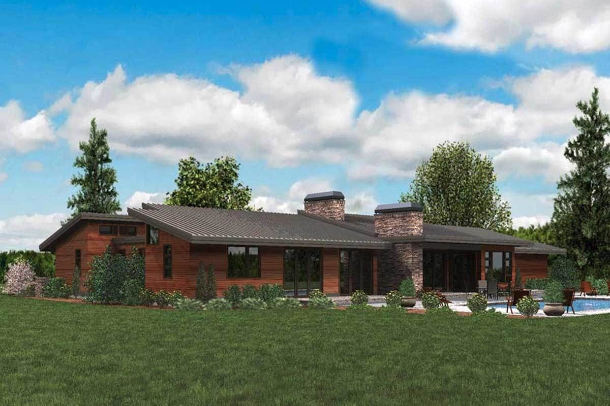 Plan 69510am Stunning Contemporary Ranch Home Plan Ranch House