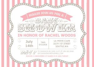 Circus Shower Pink Babies and Shower invitations