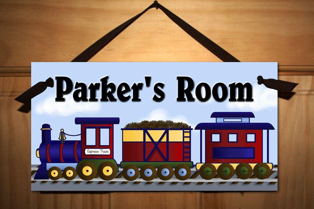 All Aboard the Express Train Boys Transportation Bedroom DOOR SIGN