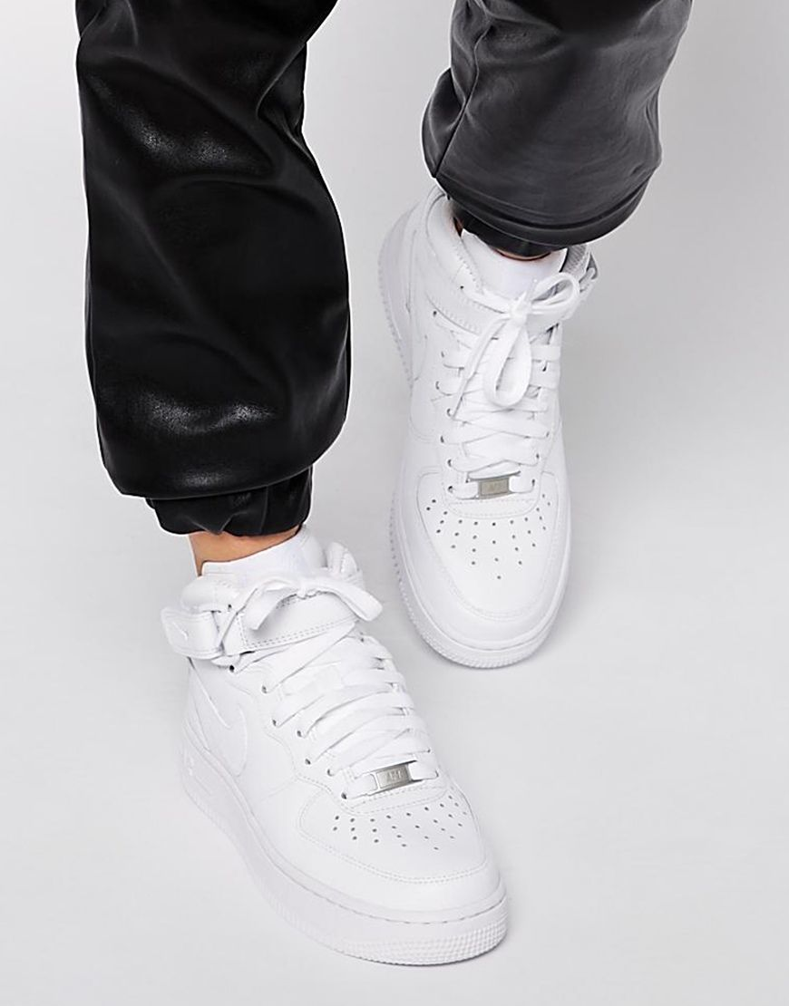 nike air force 1 white high top trainers women