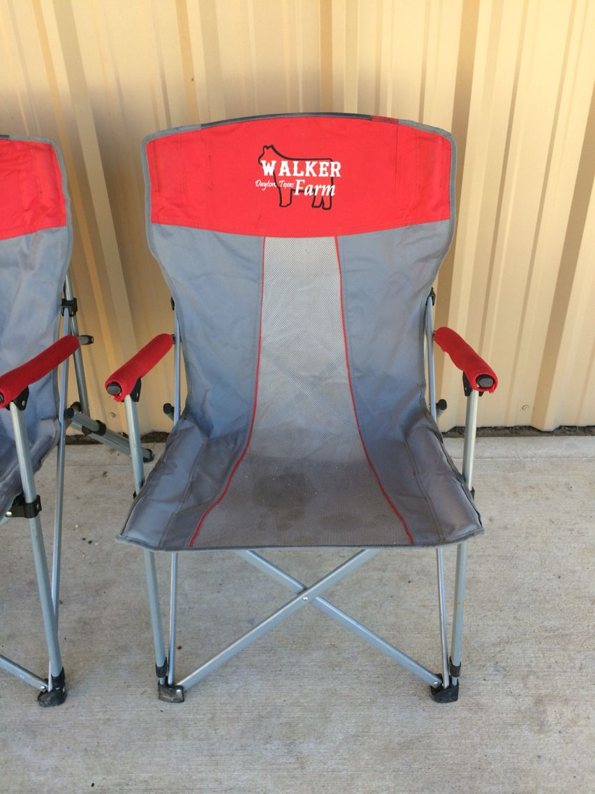 Customized Lawn Chairs Custom Awards Showing Livestock Show Cattle